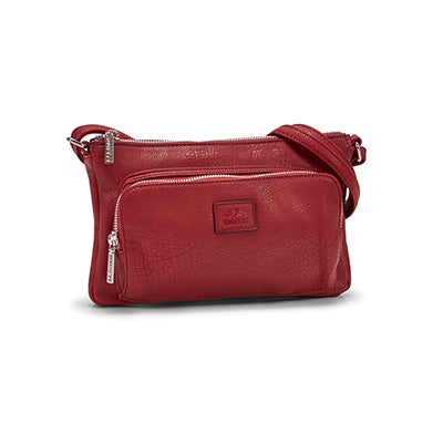 Roots Women's  R4886 dark red cross body bag