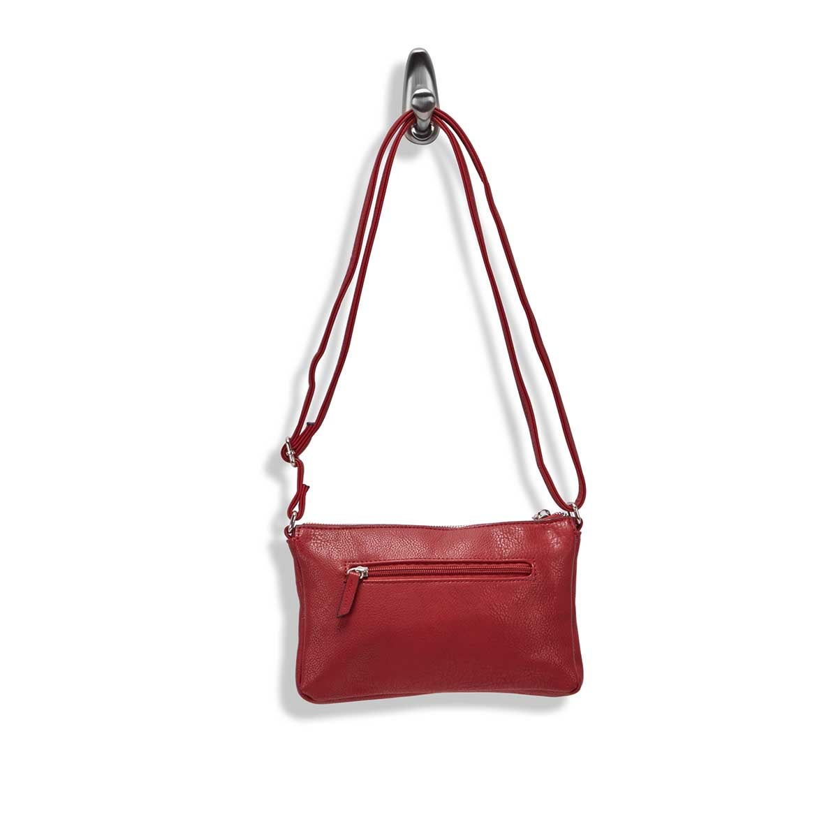 Lds Roots73 dark red east/west crossbody
