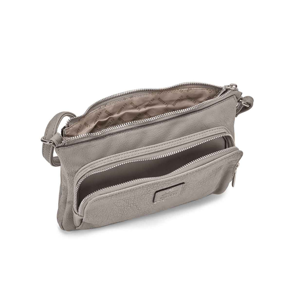 Lds Roots73 grey east/west crossbody