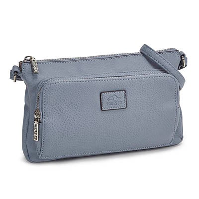 Lds Roots73 lt blue east/west crossbody