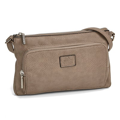 Roots Women's ROOTS73 R4886 taupe cross body bag