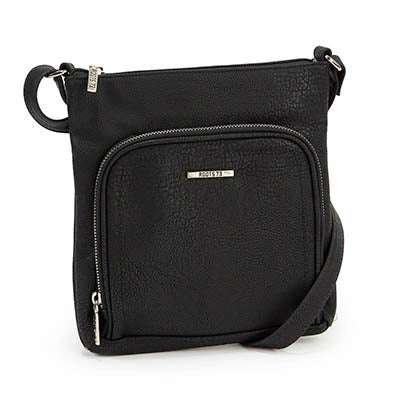 Roots Women's north south black cross body bag
