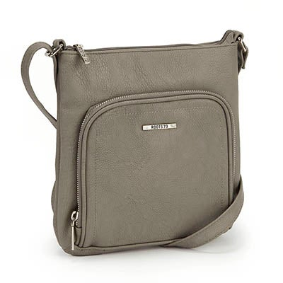 Roots Women's north south grey cross body bag
