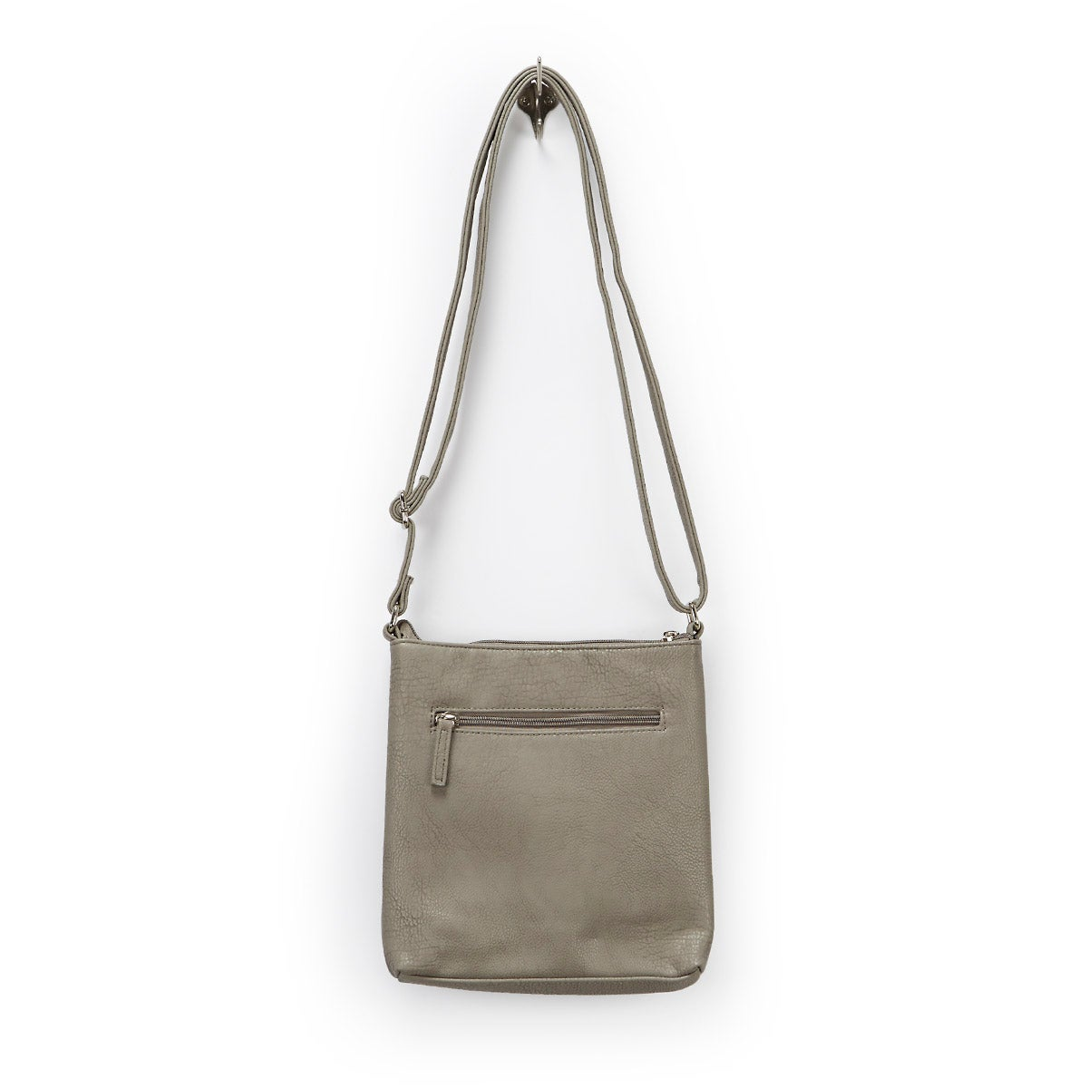 Lds grey north south cross body bag