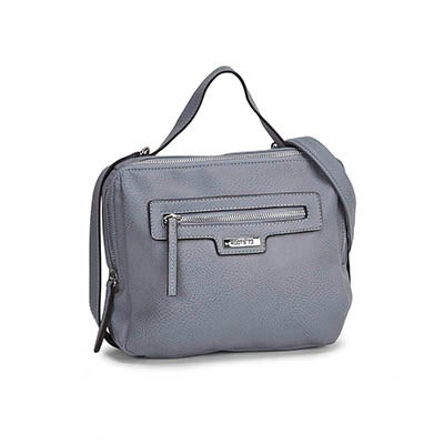 Roots Women's R4908 light blue side belt crossbody