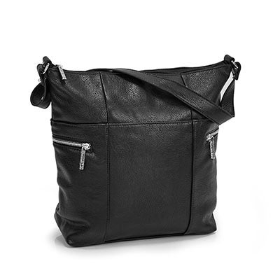 Lds Roots73 black north/south hobo bag