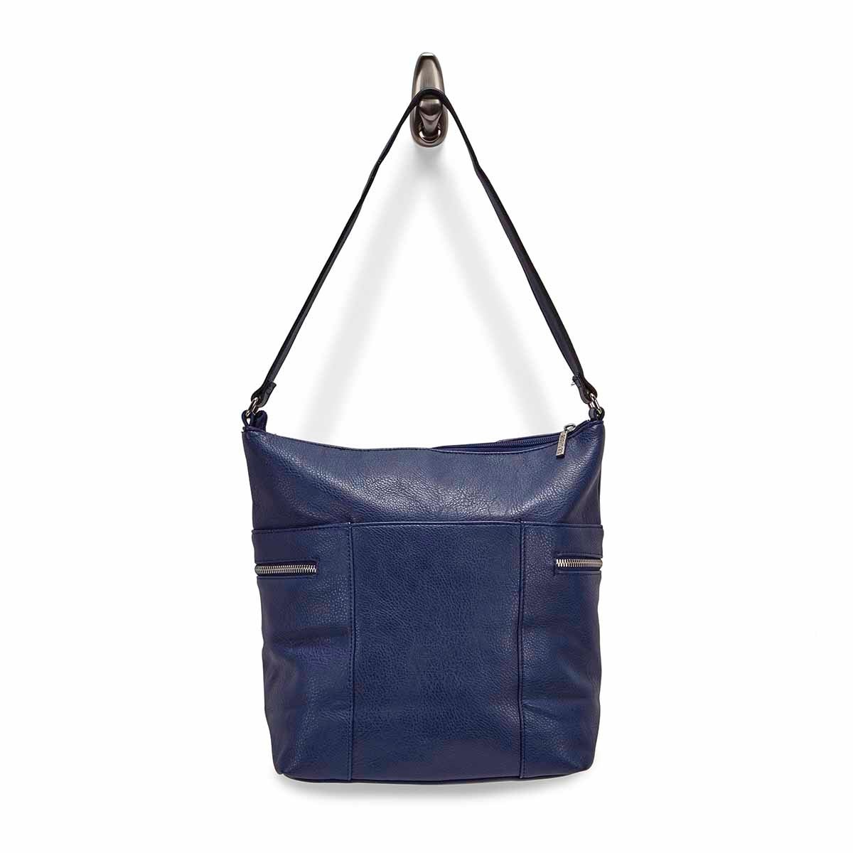 Lds Roots73 navy north/south hobo bag