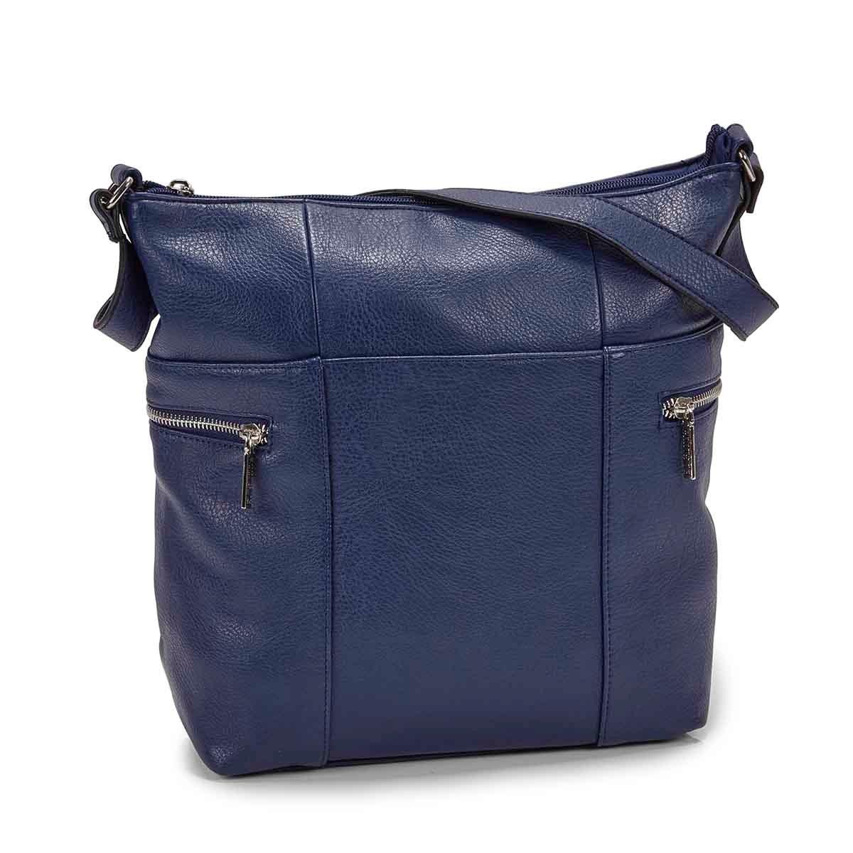 Women's R4910  navy north/south hobo bag