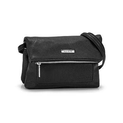 Roots Women`s black EAST/WEST crossbody bag