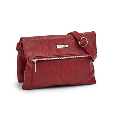Lds Roots73 red top flap crossbody bag