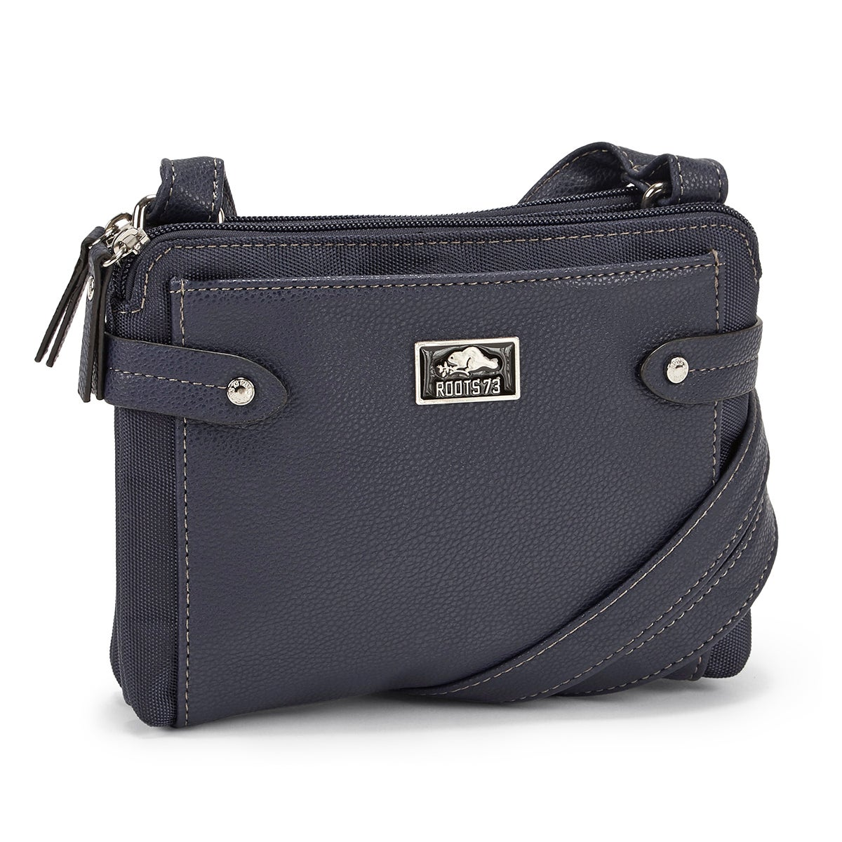 LdsRoots73 navy 2 compartment crossbody