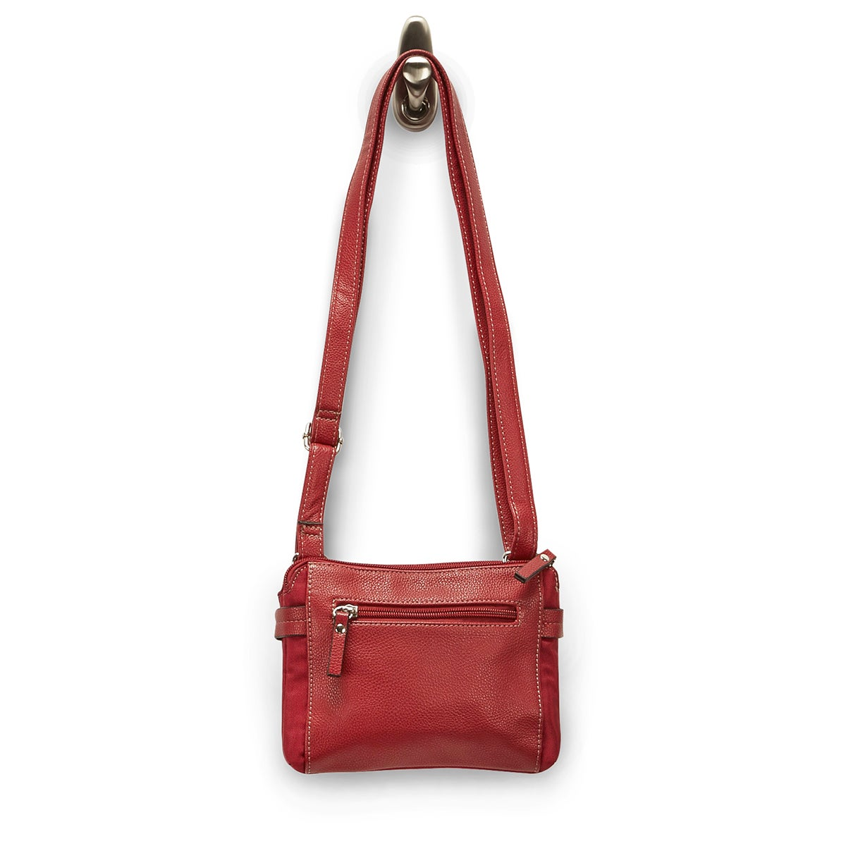 LdsRoots73 red 2 compartment crossbody