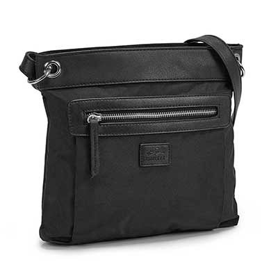 Lds black north/south crossbody bag