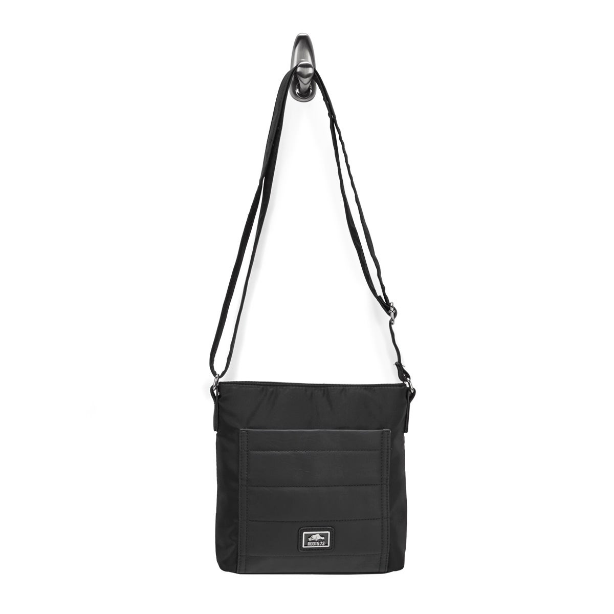 Lds Roots73 blk quilted crossbody bag