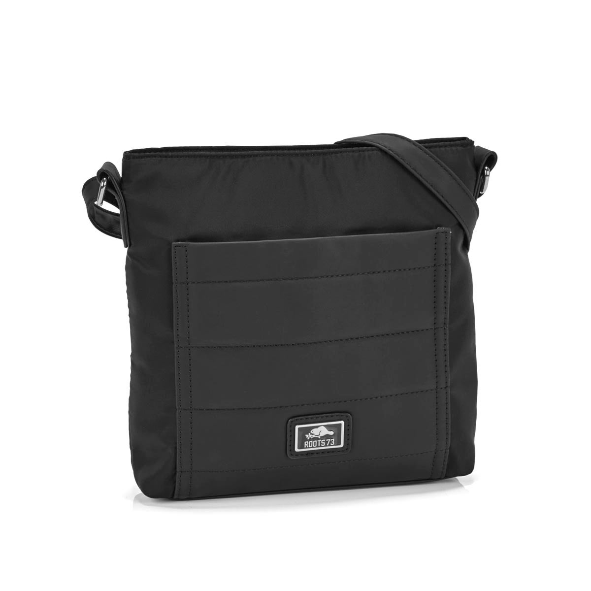 Women's R5092 black quilted crossbady bag