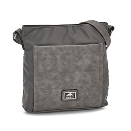 Roots Women's R5092 grey quileted crossbody bag
