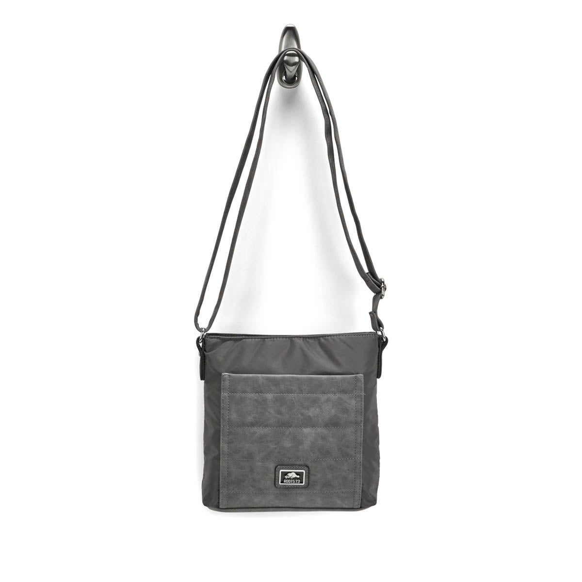 Lds Roots73 gry quilted crossbody bag