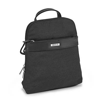 LdsRoots73 black center band backpack