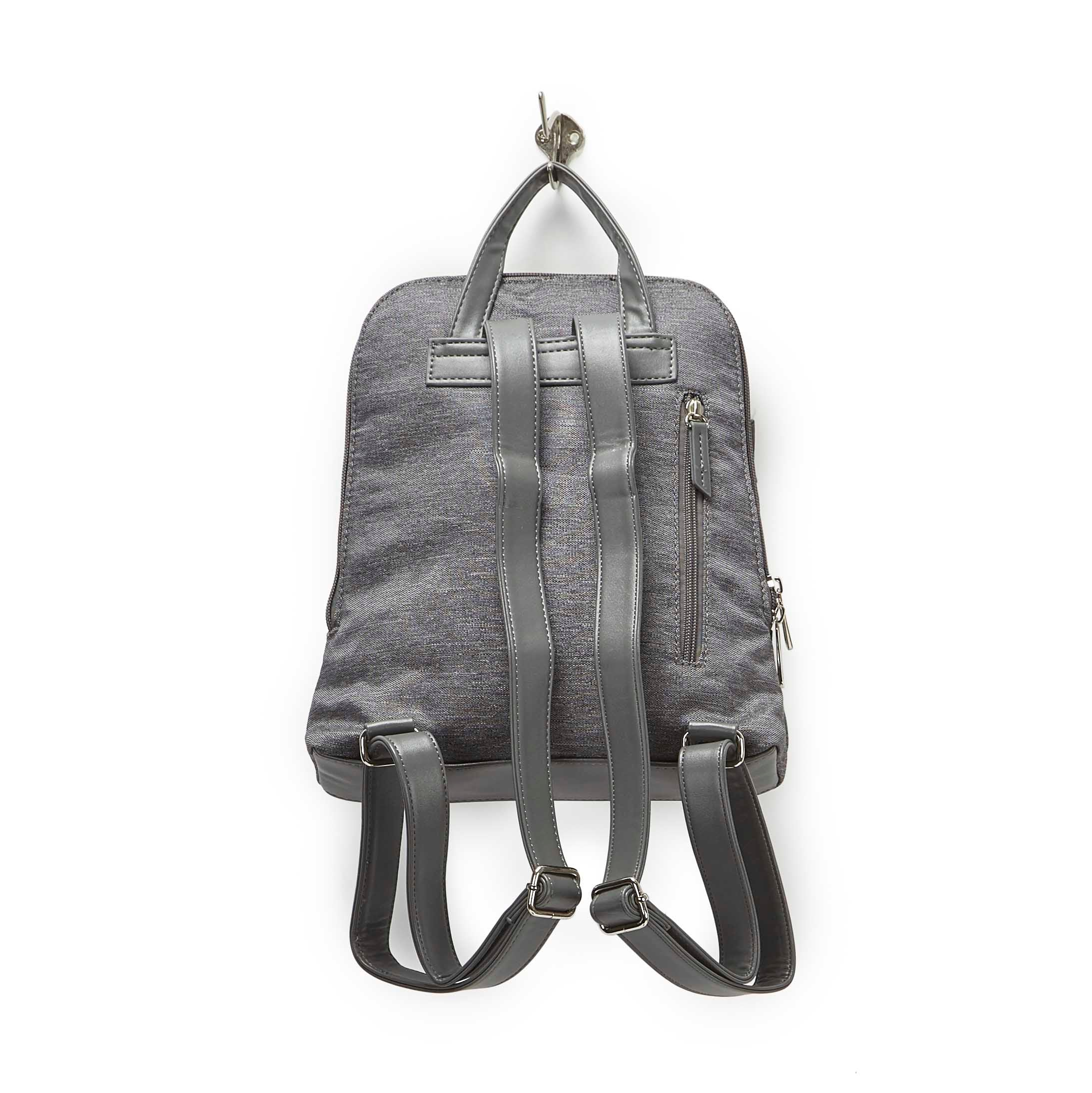 LdsRoots73 grey center band backpack