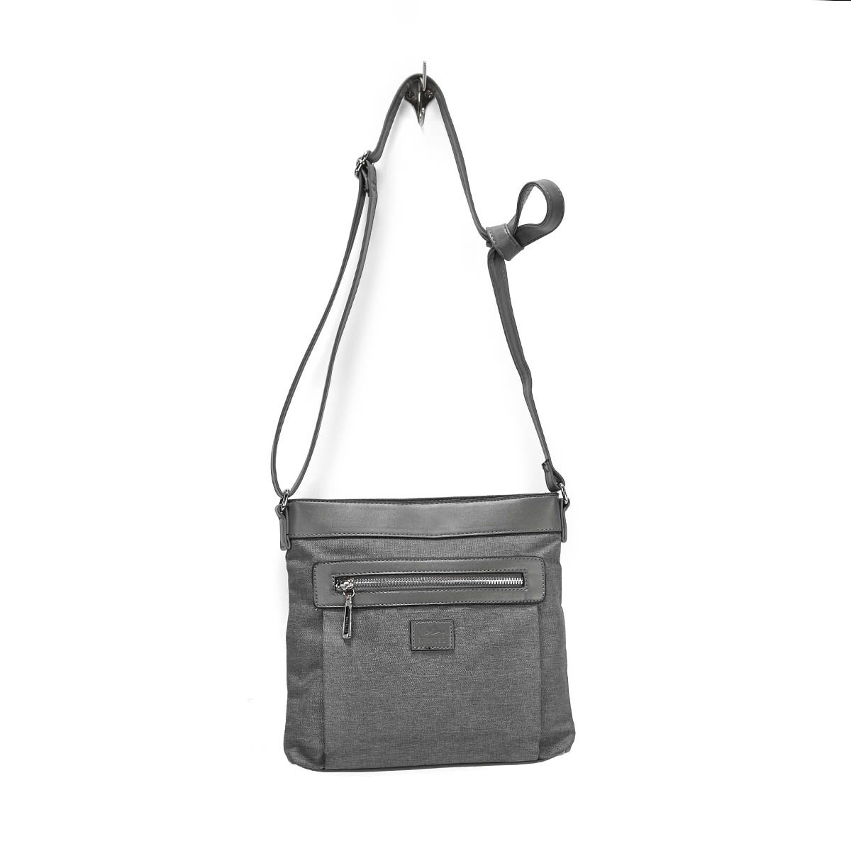 LdsRoots73 grey north south cross body