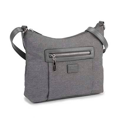 Roots Women's R5118 Roots73 grey hobo bag