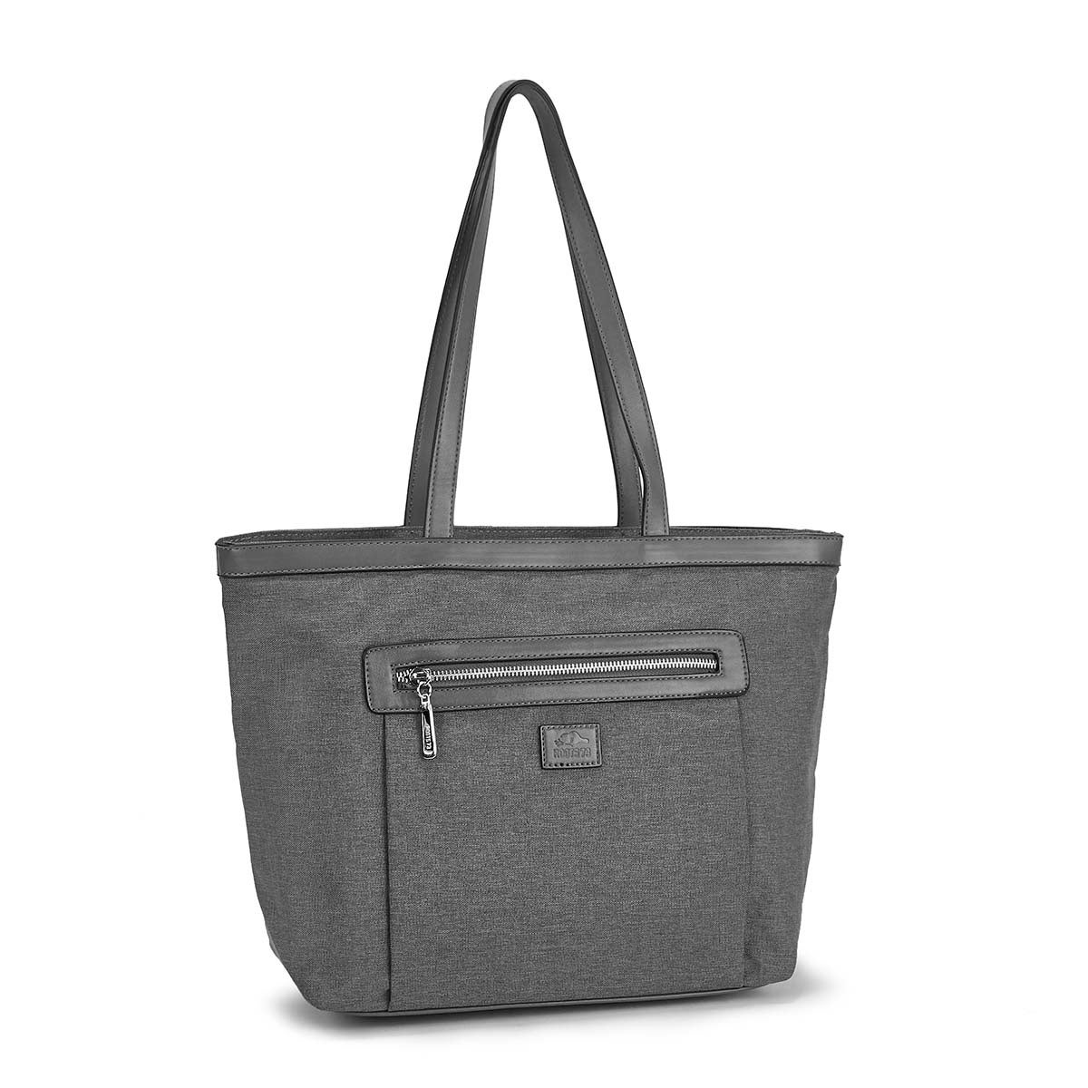 Women's R5119 Roots73 grey small tote bag