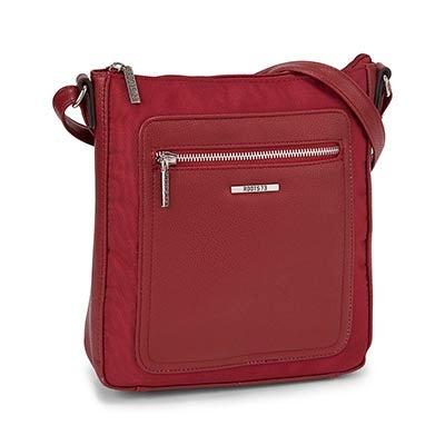 Roots Women's R5133 red cross body bag