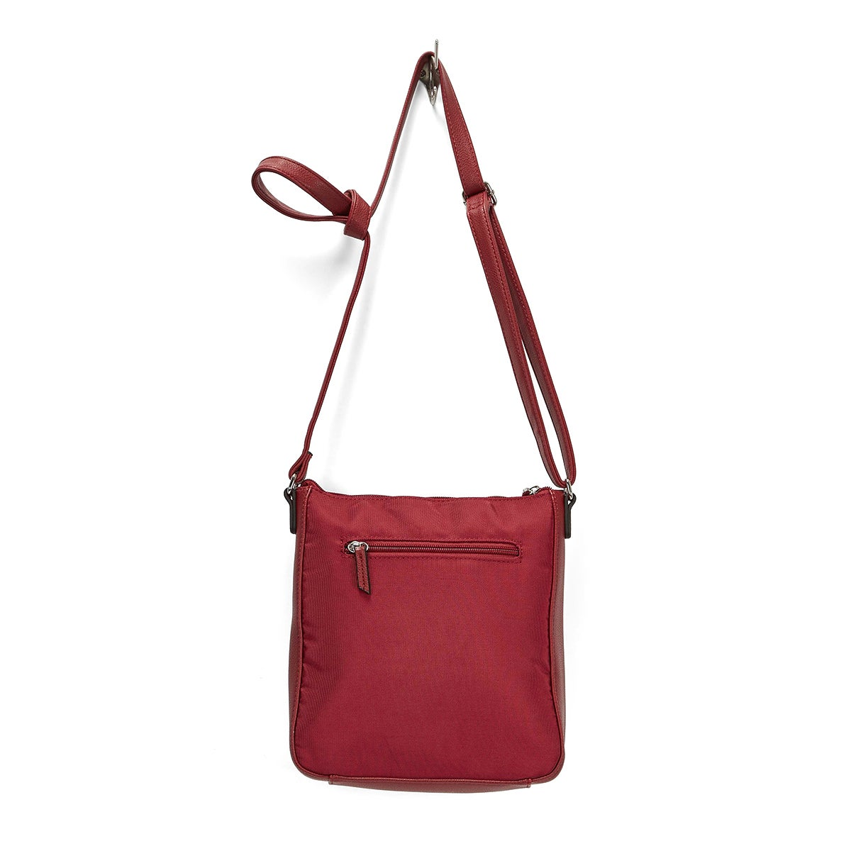 LdsRoots73 red front stitch cross body