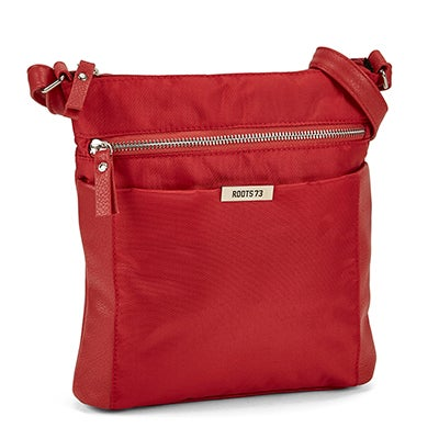 Roots Women's R5134 red north south crossbody bag
