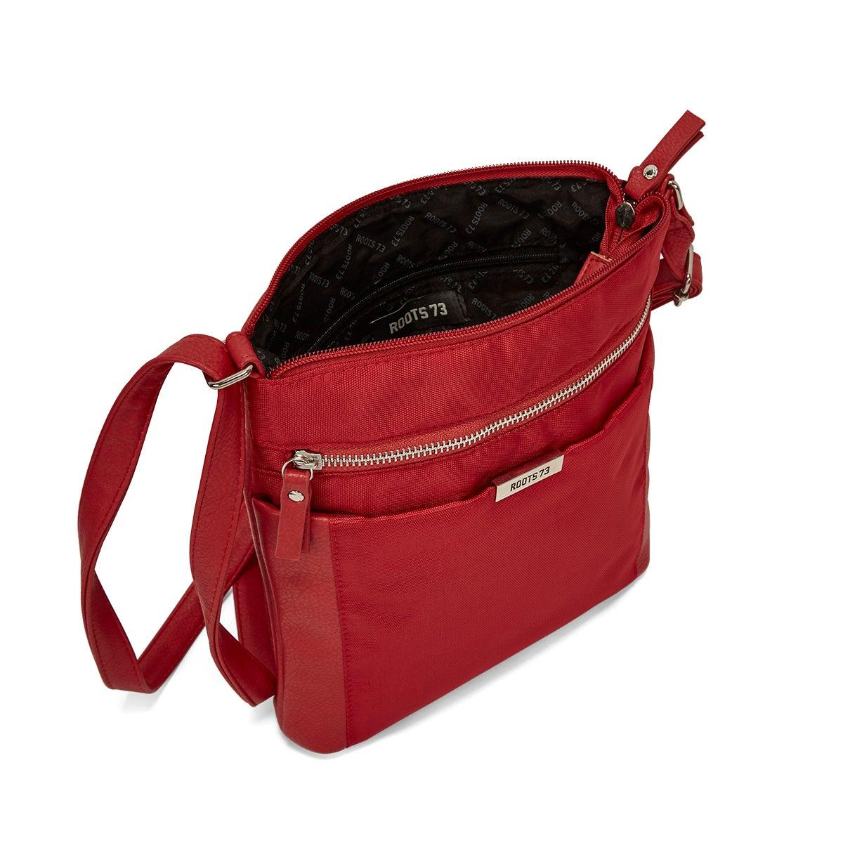 LdsRoots73 red north south crossbody bag