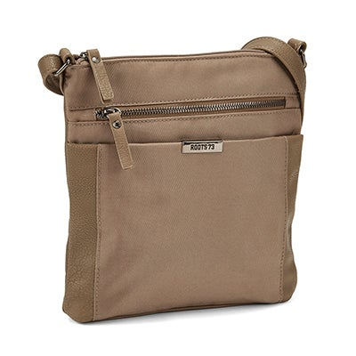 Roots Women's R5134 taupe north south crossbody bag