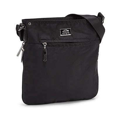Roots Women's R5136  black north/south cross body bag