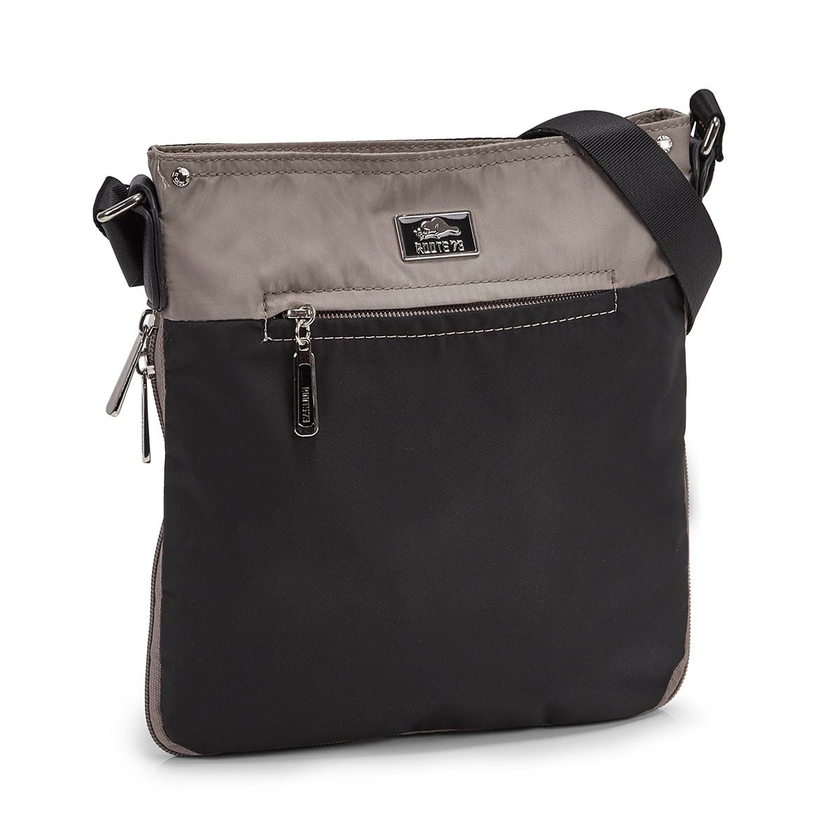 Lds tpe/blk north/south cross body bag
