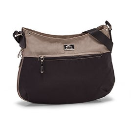 Roots Women's R5138 black/taupe crossbody bag