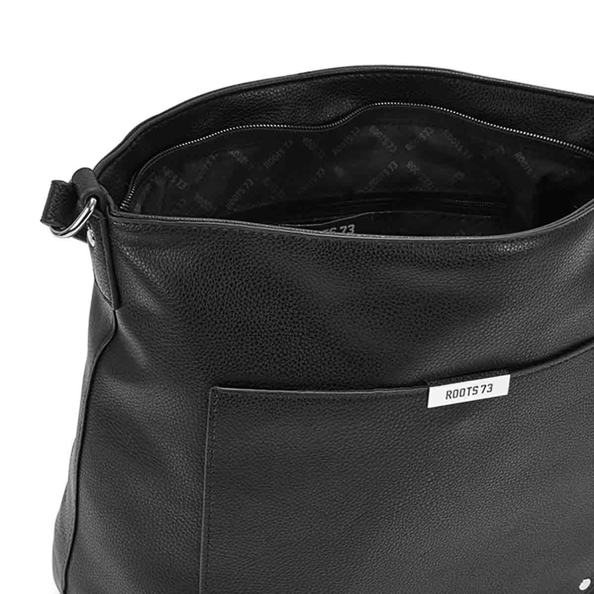 LdsRoots73 black square hobo bag