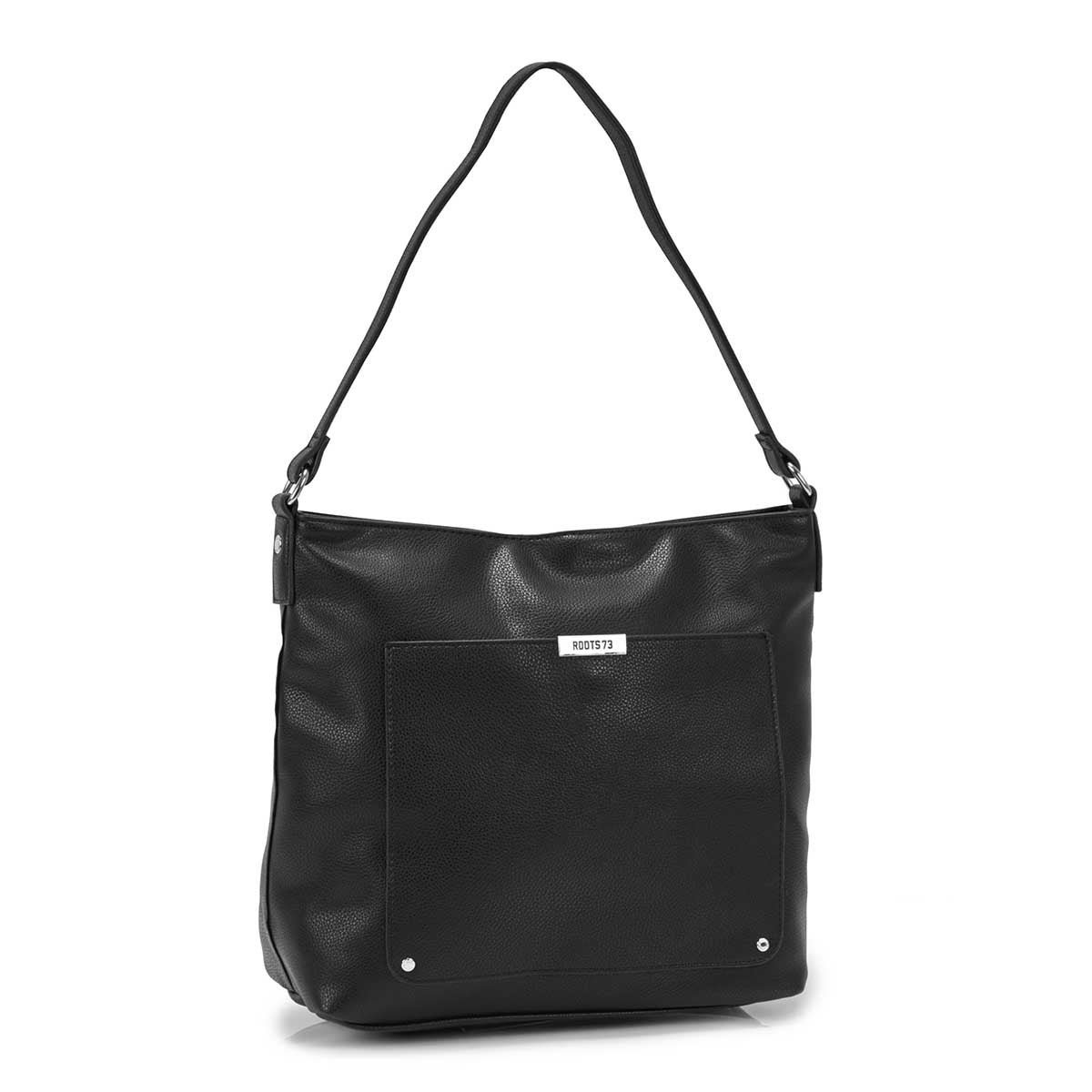 Women's R5182 black square hobo bag