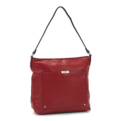 Roots Women's R5182 red square hobo bag