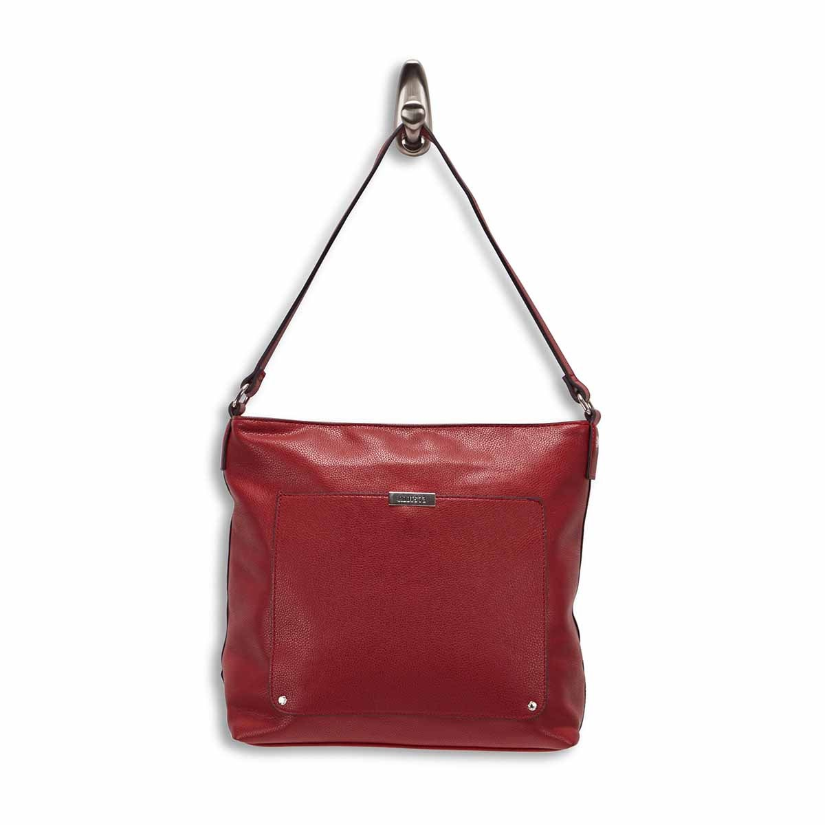 LdsRoots73 red square hobo bag