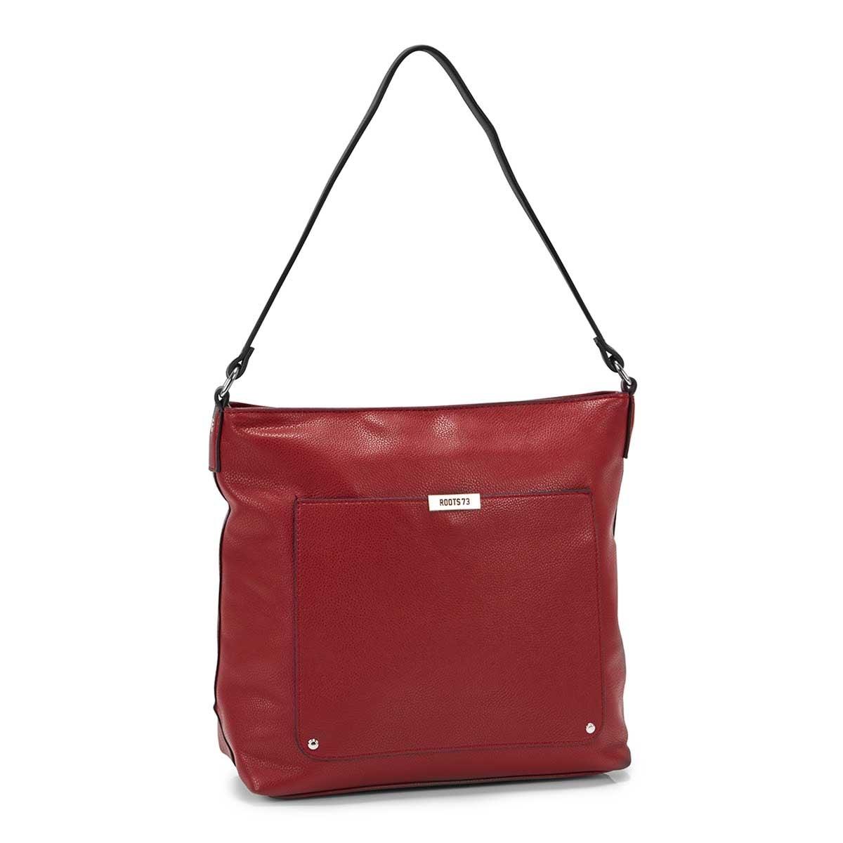 Women's R5182 red square hobo bag