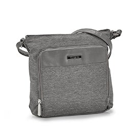 Lds Roots73 grey textured crossbody bag