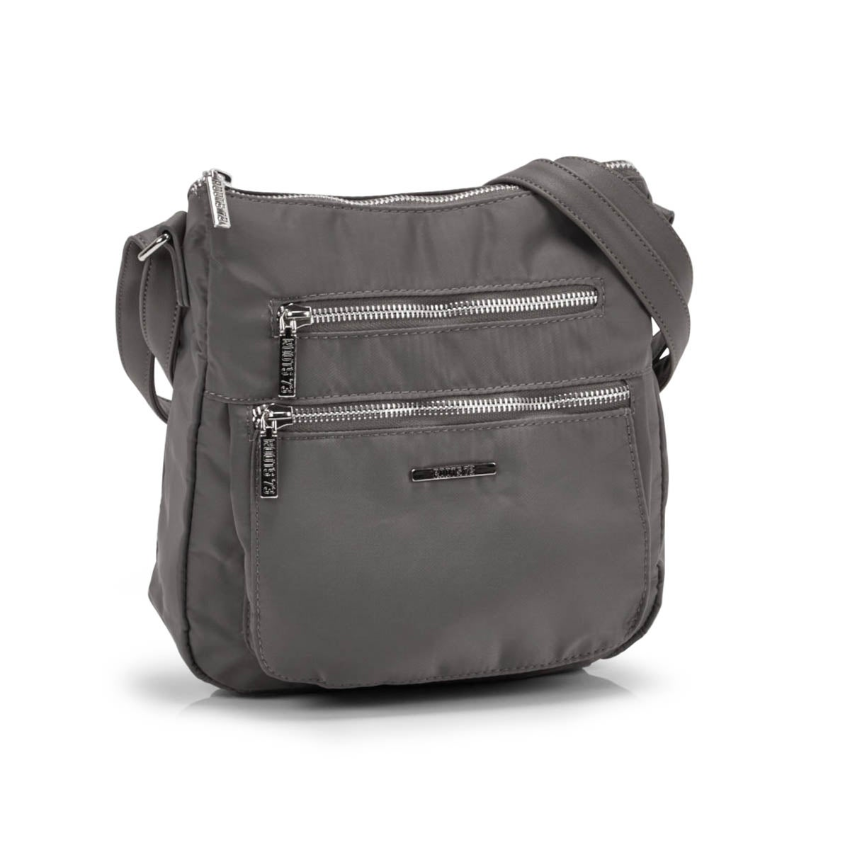 Lds grey north/south top zip crossbody