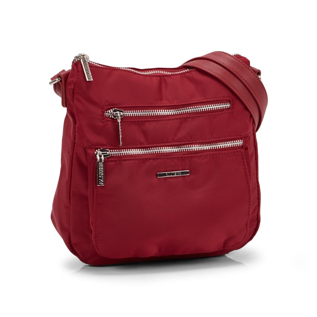 Lds red north/south top zip crossbody