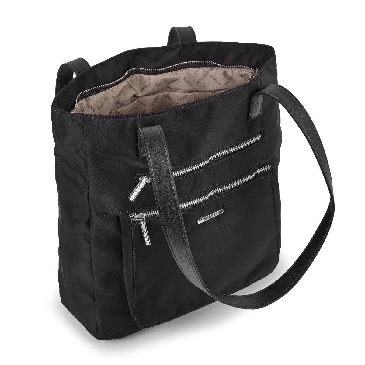 Lds Roots73 black zip closure satchel