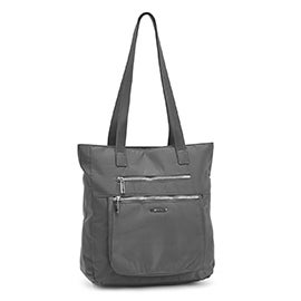 Roots Women's R5192 grey zip closure satchel