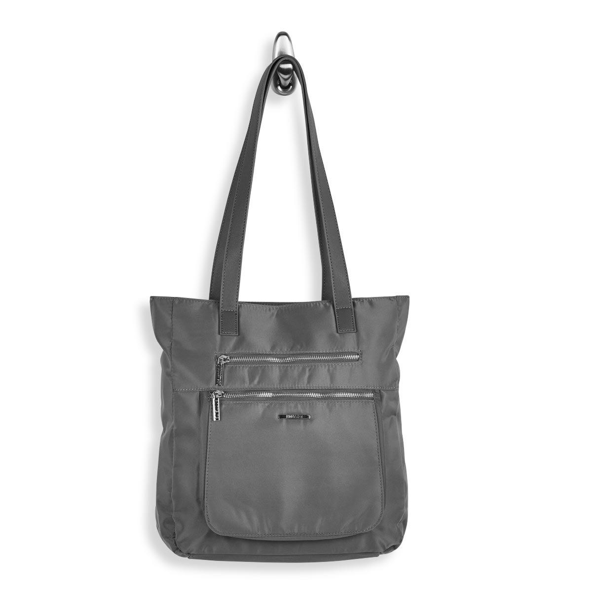 Lds Roots73 grey zip closure satchel