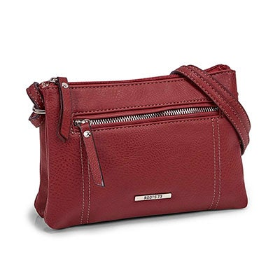Lds red 2 compartment mini cross body