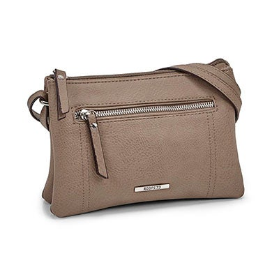Roots Women's R5193 taupe mini cross body bag