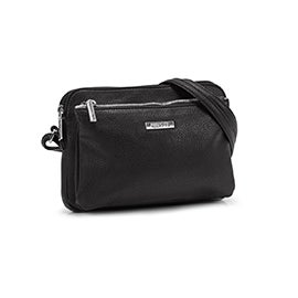 Roots Women's R5200 EAST/WEST black crossbody bag