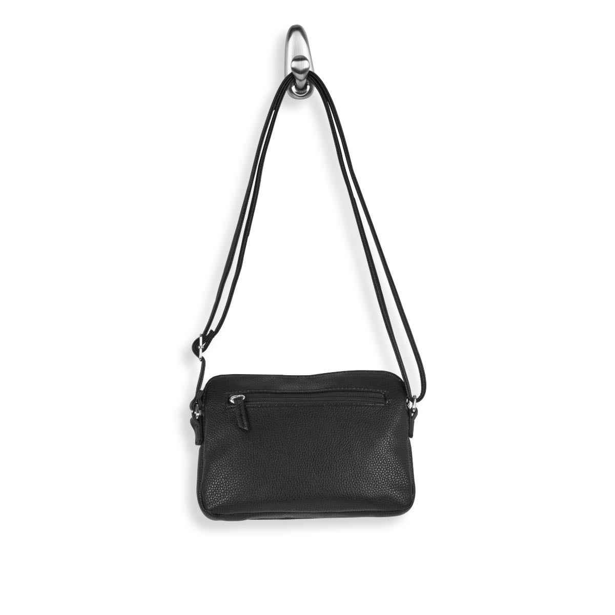 Lds black east/west small crossbody bag