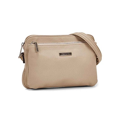 Roots Women's R5200 EAST/WEST stone crossbody bag
